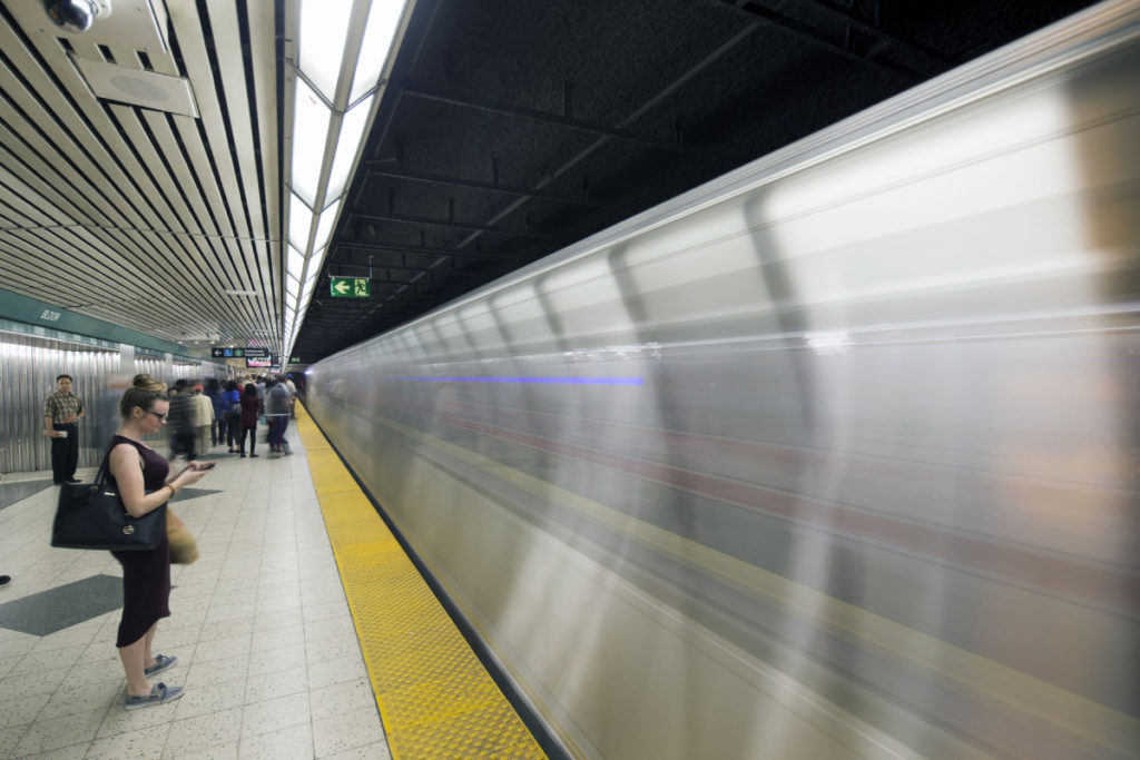TORONTO STAR USE ONLY/ NO SALES. TORONTO, ON - July 07: - July 07, 2015. rush hour at Bloor yonge subway station. For tablet. Marcus Oleniuk/ Toronto Star